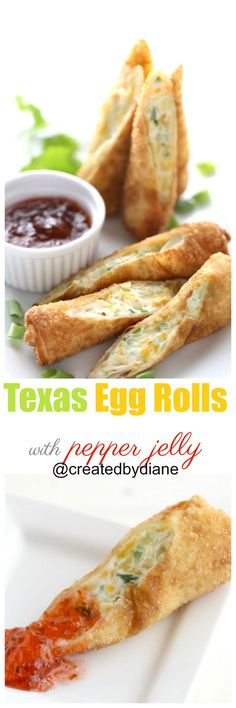texas egg rolls with pepper jelly recipe @createdbydiane