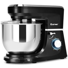 This is stylish food stand mixer which is great for your kitchen. It comes with dough hook, beater, whisk and Qt stainless steel bowl. Powerful 660 watt motor and variable speeds guarantee freshness and smoothness of food, an Electric Foods, Stainless Steel Bowl, Stand Mixer, Rice Cooker, Tilt, Kitchen Appliances, Diy Kitchen Appliances, Home Appliances, Kitchen Gadgets