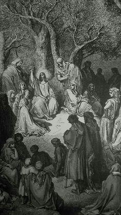 Phillip Medhurst presents detail 164/241 Gustave Doré Bible The Sermon on the Mount Matthew 5:7-10