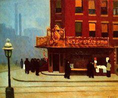 Edward Hopper Painting Realism New York Street Corner
