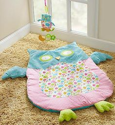"""HOOT"" Play & Nap Mat with Toy"