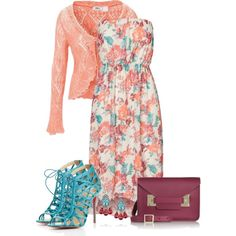 """Strapless Sundress"" by callmeadie on Polyvore"