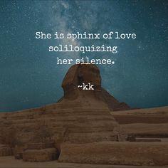 #silence #love #sphinx #poem