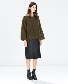 ZARA - WOMAN - MOHAIR SWEATER WITH BACK TIE