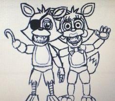 foxy and mangel Sister Location, Five Nights At Freddy's, Fnaf, Foxes, Fun Games, Wwe, Scary, Random Stuff, Horror