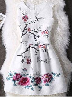 GET $50 NOW | Join RoseGal: Get YOUR $50 NOW!http://www.rosegal.com/print-dresses/concealed-zipper-high-waist-floral-pattern-dress-516444.html?seid=7040215rg516444