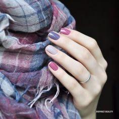 fresh autumn nail ideas Trendy Nail Art, Stylish Nails, Gray Nails, Matte Nails, Purple Nails, Nail Pink, Purple Makeup, Spring Nail Colors, Spring Nails