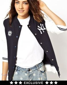 47 Brand New York Yankees Bomber Jacket Exclusive To ASOS on shopstyle.com