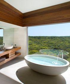 World's Most Amazing Hotel Bathrooms - Kangaroo Island, Australia. This will be is my house!