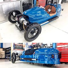 #mulpix The new @morganmotor 3-Wheeler press car looks lovely in laguna blue with stage 1 exhaust upgrade too, those pipes sound throaty  - much likey.  #MOG  #M3W  #morgan  #3Wheeler