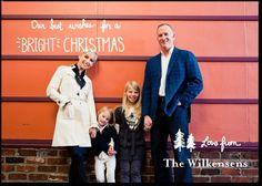 Christmas card idea: Tiny Trees-- White