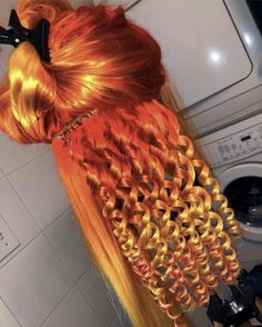 New hair color red dyes ideas Long Curly Hair, Curly Hair Styles, Natural Hair Styles, Wig Styles, Trendy Hairstyles, Wig Hairstyles, Black Hairstyles, Weave Curls, Colored Wigs