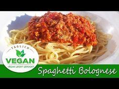 Spaghetti Bolognese VEGAN Spaghetti Bolognese, Vegan Bolognese, Bolognese Sauce, Bologna, Ethnic Recipes, Food, Videos, Tofu Soup, Recipies