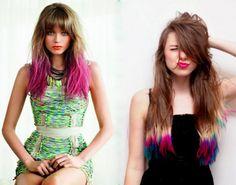 cabelos com pontas coloridas - Pesquisa Google
