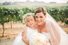 Kacey & Zach // Karma #VineyardWedding // #DonnaMorgan #bridesmaid #dresses in #blush #pink // Nicole Conner Photography