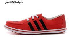 los angeles 7bc94 bf454 Adidas NEO EZ Sail Lona para Hombre Zapatos Casuales Escarlata claro Negro  Blanco Comprar Online