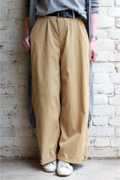 I like these colours. Interesting pants.