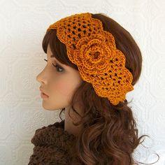 Crochet trellis head wrap