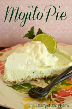 Creamy lime pie filling on a salty pretzel crumb crust! Perfect Spring Pie! | Little Dairy on the Prairie