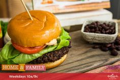 A vegan and delicious burger that is made from black beans! For more tasty recipes tune in to Home & Family weekdays at 10a/9c on Hallmark Channel!