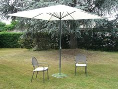 Parasol CATHAY Polyester 300x300/8 cm au meilleur prix ! - LeKingStore