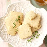 Lemon-Thyme Shortbread Cookies Laced with Hone