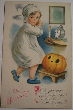 Vintage Halloween Postcard artist Ellen H Clapsaddle   Flickr - Photo Sharing!