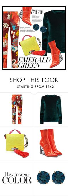 """""""HOW TO WEAR COLOR"""" by pinkdream235 ❤ liked on Polyvore featuring Prada, Maje, Kenzo and Puma"""