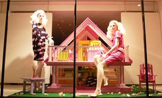 """THE MOSCHINO BARBIE DREAMHOUSE"" London UK, ""Barbie is moving on and contemplate life without Ken...."", pinned by Ton van der Veer"