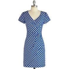 Emily and Fin Variety Store Dress in Dotted ($100) ❤ liked on Polyvore