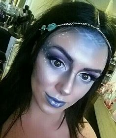 Mermaid water sea river nymph makeup mua makeupartist fantasy blue monster ocean fairy