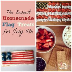 Make these cute and tasty flag treats for July 4th - they're so easy even the kids can help, and everyone will love eating them as you watch the fireworks!