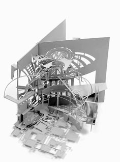 JOHAN HYBSCHMANN  The Federal Hall: Redesign of the Federal Hall, New York. Study of internal spatial distribution: