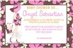 Invitacion de baby shower para nena con mama embarazada