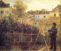 Monet Painting in His Garden by Renoir