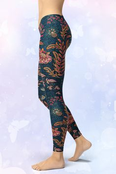 Handmade and sustainable leggings from GearBaron are made to last. The buttery-soft, moisture-wicking and fast-drying Smart Fabric™ supports any move and. Denim Leggings, Gym Leggings, Floral Denim, Natural Shapes, Save Water, Sport Outfits, Hug, Looks Great, Money