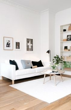 Living room in a Swedish apartment via Nordic Days.