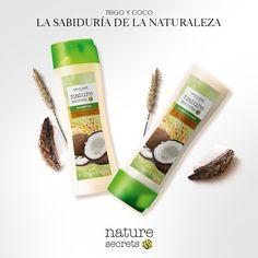 El #shampoo y #acondicionador Nature Secrets de Coco y Trigo contienen aceite de #coco con #vitamina E antioxidante, especial para cabellos secos y dañados.