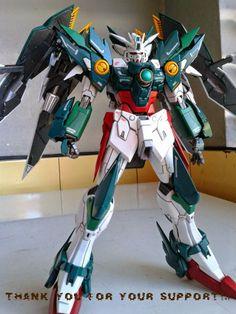 GUNDAM GUY: MG 1/100 Wing Gundam Proto Zero Fenice Vendetta - Customized Build