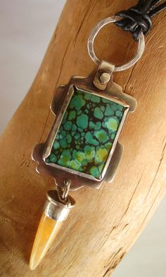 Necklace  Sterling Silver  Turquoise and Aragonite  by rmddesigns, $65.00