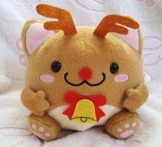 Maruneko Club Japan Christmas Plush (Reindeer) New with Tag Kawaii