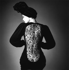 Lace; YSL dress; Jeanloup Sieff photography