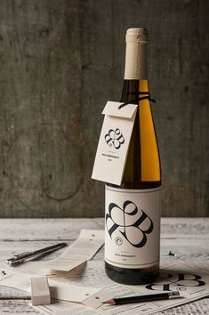 Bernadett Baji's wine label for 2015 create by kissmiklos.