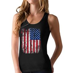 4th of July Vintage Distressed USA Flag Racerback Women's...