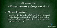 Effective Teaching Tips (Tip 6)
