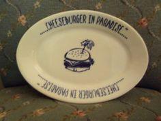 Vintage Cheeseburger in Paradise China Platter Restaurant Ware Homer Laughlin | eBay