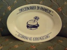 Vintage Cheeseburger in Paradise China Platter Restaurant Ware Homer Laughlin | eBay