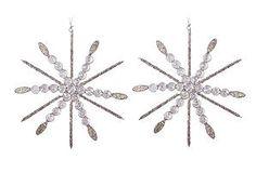 S/2 Snowflake Ornaments, Ice