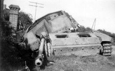 StuG III Ausf.G destroyed in Normandy, summer 1944, perhaps in the Falaise Pocket.