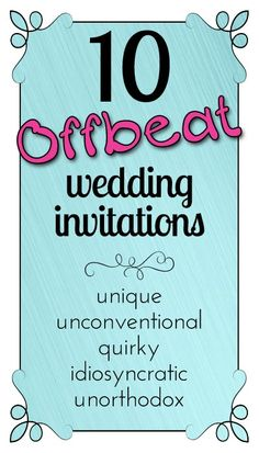 A selection of unique offbeat wedding invitations - Party Simplicity Traditional Wedding Invitations, Unique Wedding Invitations, Wedding Themes, Wedding Stationery, Wedding Ideas, Wedding Prints, Best Day Ever, Save The Date Cards, Wedding Bells